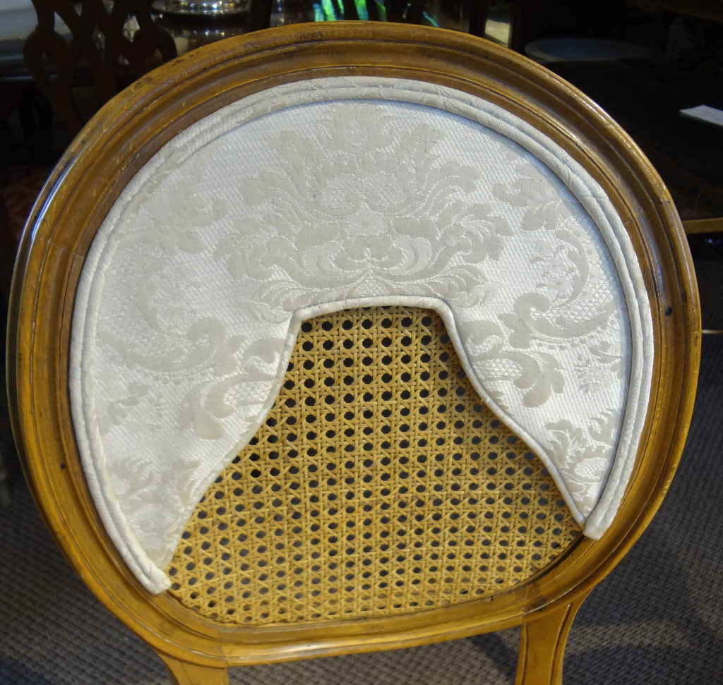 Pair of French Cane Seat & Back Chairs