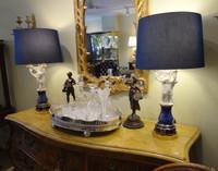 Antique Sevres Biscuit / Bisque Lamps  Pair