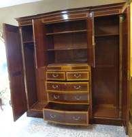 French Style Satinwood Wardrobe