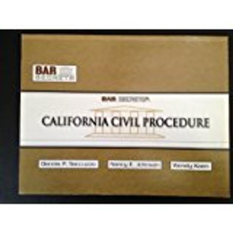 BAR SECRETS: CALIFORNIA CIVIL PROCEDURE (OUTLINE) 9781933089256