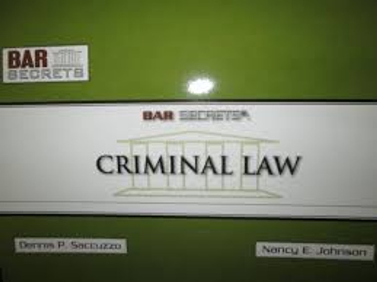 BAR SECRETS: CRIMINAL LAW (OUTLINE) 9781933089201