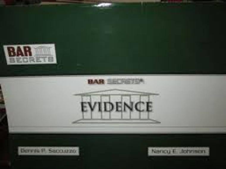 BAR SECRETS: EVIDENCE (OUTLINE) 9781933089164