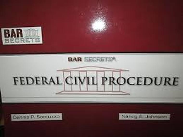 BAR SECRETS: FEDERAL CIVIL PROCEDURE (OUTLINE) 9781933089058