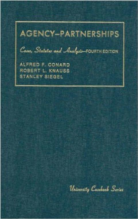 CONARD'S AGENCY, ASSOCIATIONS, EMPLOYMENT & PARTNERSHIPS (4TH,2006)  9780882775982