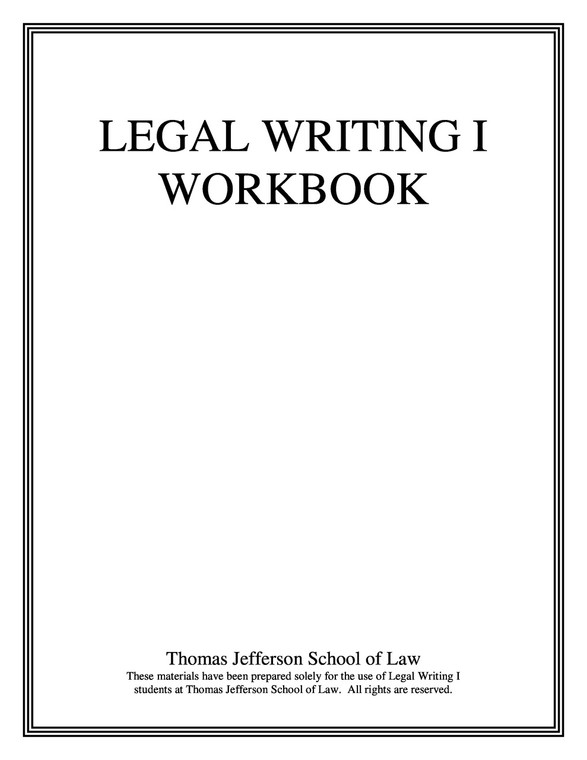 LEGAL WRITING 1 WORKBOOK (INCLUDES E-BOOK ACCESS)