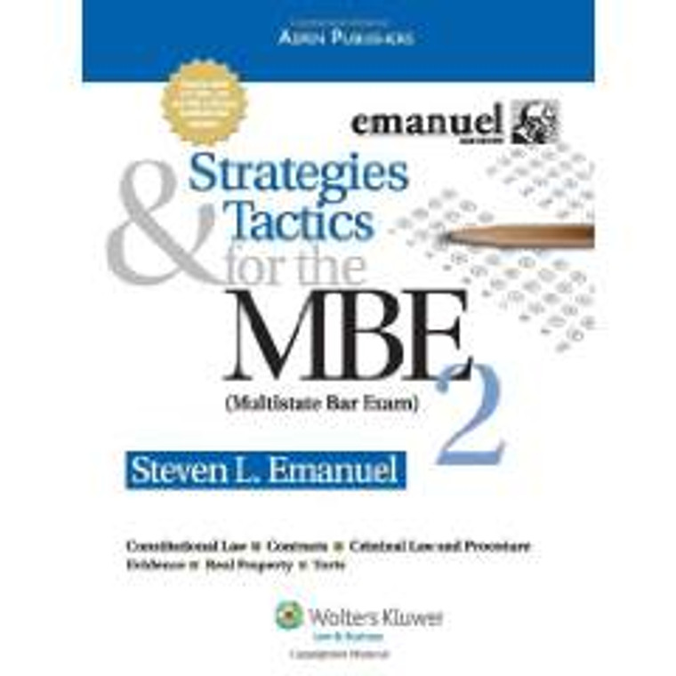 EMANUEL'S STRATEGIES AND TACTICS for the MBE 2
