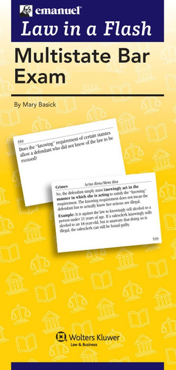 LAW IN A FLASH CARDS: MULTISTATE BAR EXAM (2-PART SET) (2016) 9781454868491