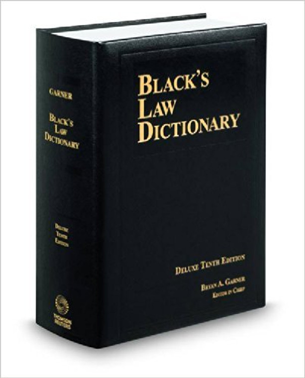 GARNER'S BLACK'S LAW DICTIONARY DELUXE (10TH, 2014) 9780314621306