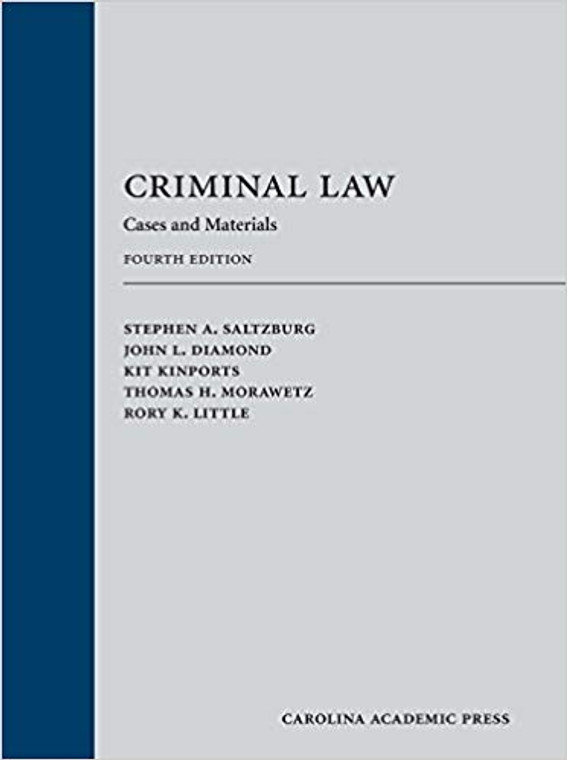 SALTZBURG'S CRIMINAL LAW (4TH, 2017) 9781531004187