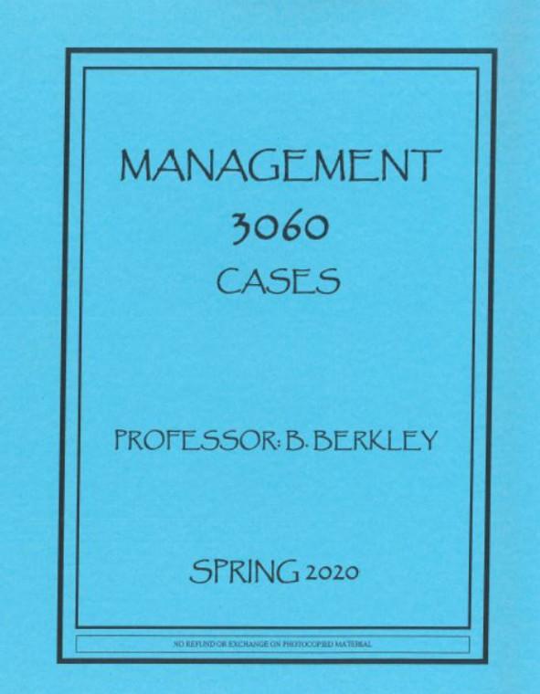 BERKLEY'S MGMT 3060 (SPRING 2020)