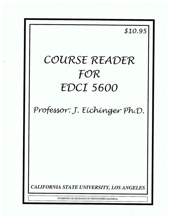 EICHINGER'S EDCI 5600 (FALL 2020)