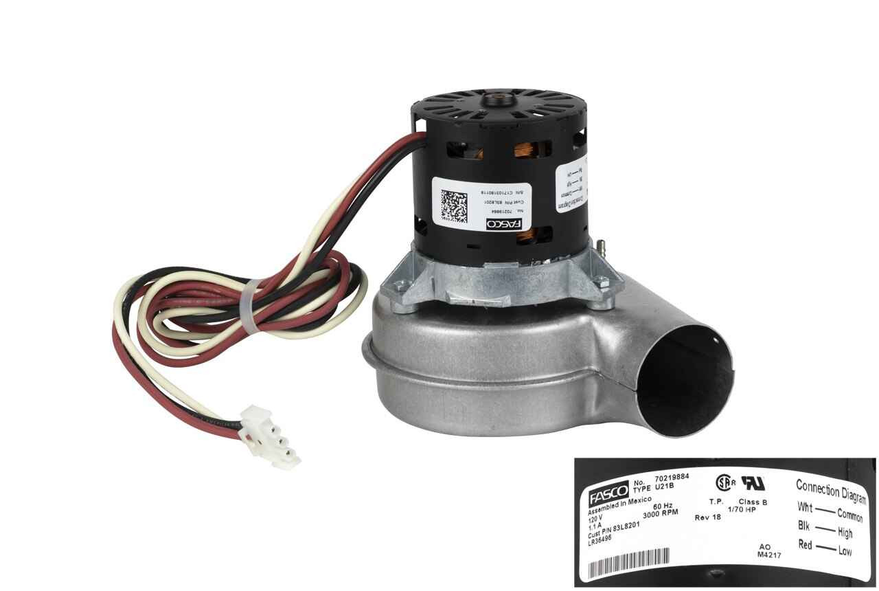 Exhaust Vent Venter Motor Fasco Replacement 67M64 Lennox Furnace Draft Inducer