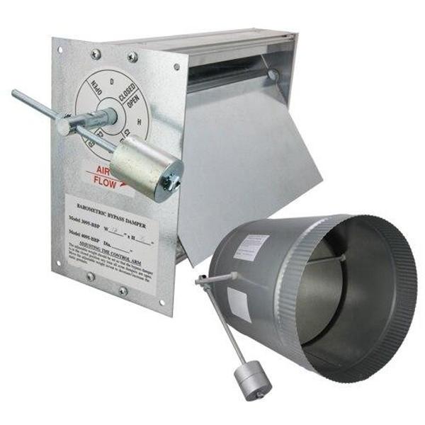 iO HVAC Controls BH-16 16 Round Horizontal Barometric Bypass Damper