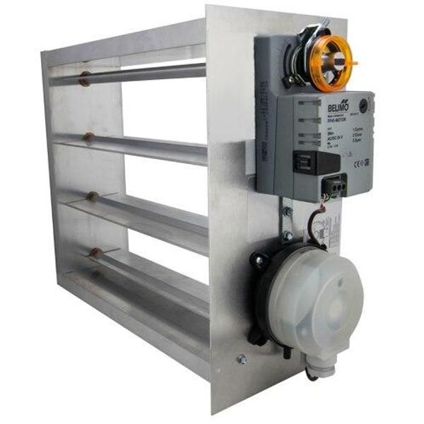 iO HVAC Controls EB-1818 Electronic 18 x 18 Bypass Damper