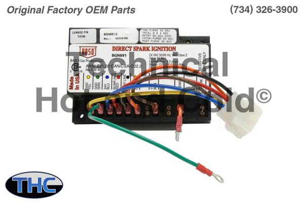 Lennox Y4749 Pulse Furnace Ignition Control Board