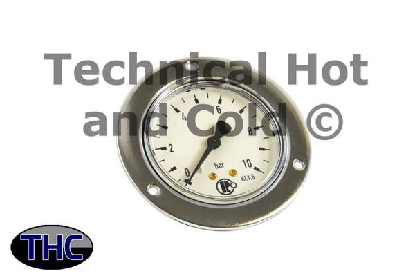 Schimpke 5300725 Manometer 0-10bar with Belt Ring