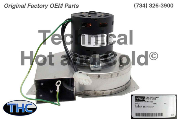 York Coleman S1-2702-321P Draft Inducer Motor Assembly