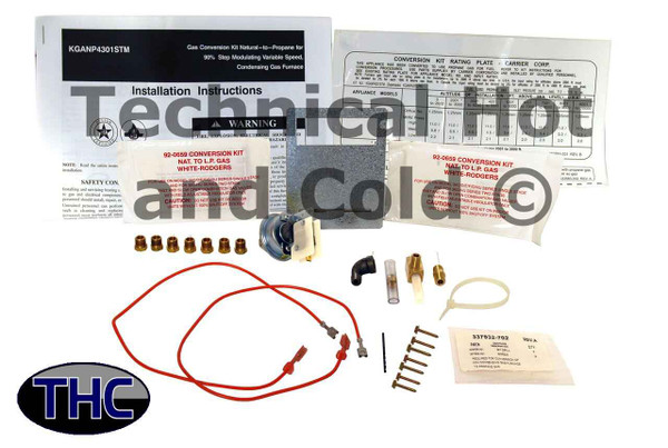 Carrier KGANP4301STM Conversion Kit Natural Gas to Propane