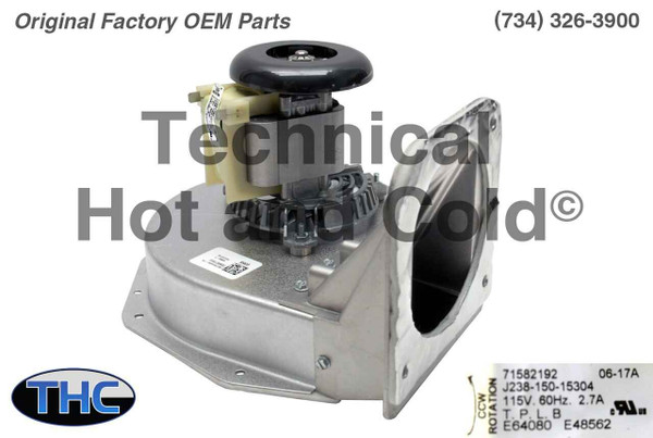 York Coleman S1-02435329000 Draft Inducer Motor Assembly