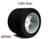 Hot Race 1:8 Rear Tires - White Wheels