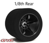 Hot Race 1:8 Rear Tires - Carbon Wheels