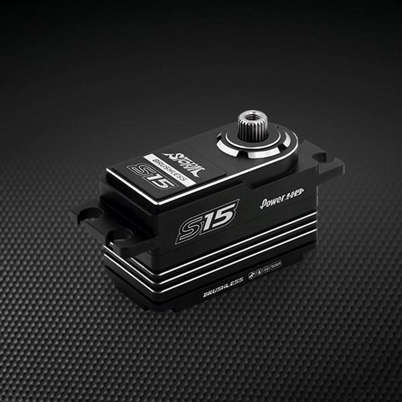 Power HD S15 Silver Low Profile (0.06s/15.0kg/7.4V) Brushless Servo
