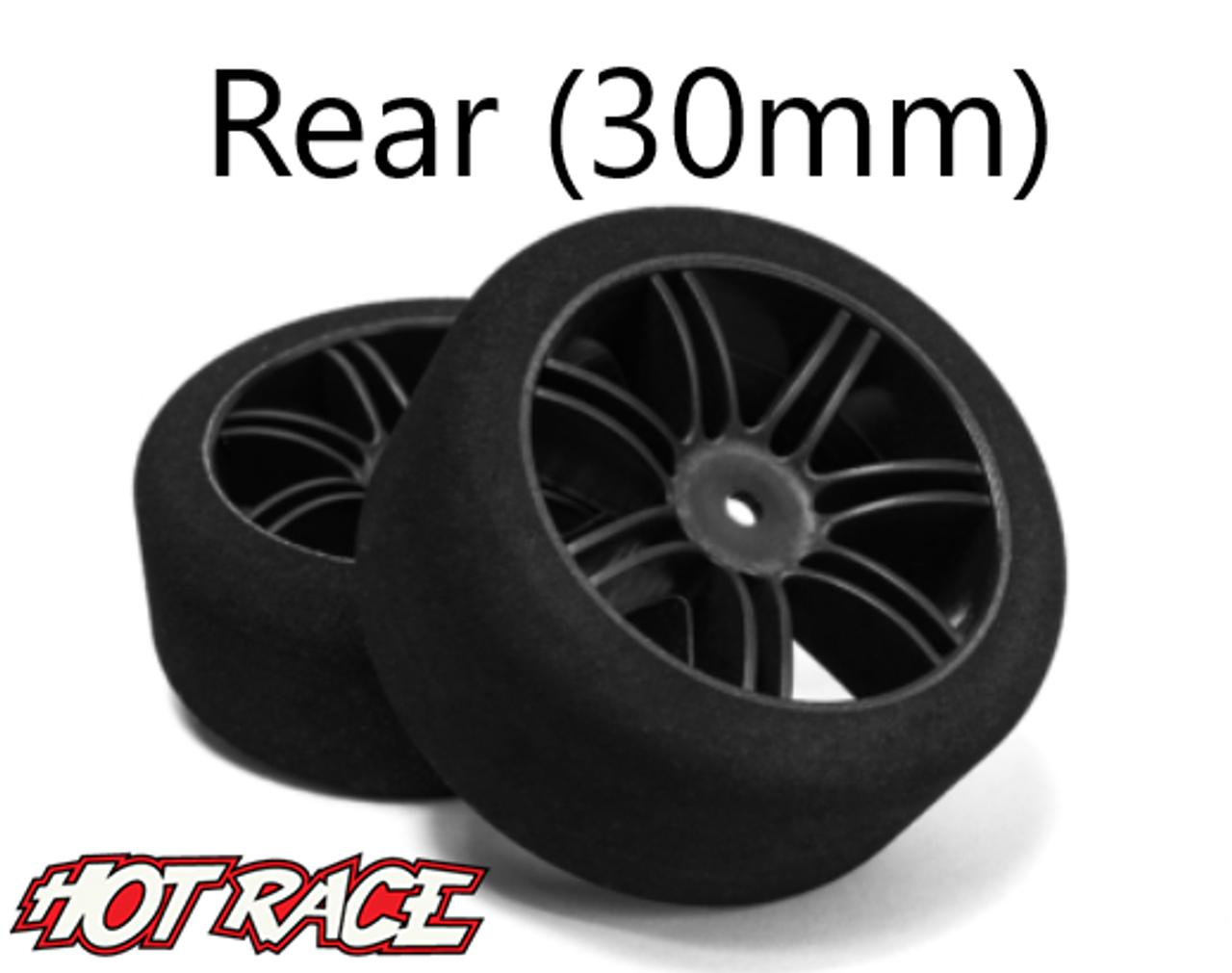 Hot Race 1:10 Rear Tire - Carbon Wheels