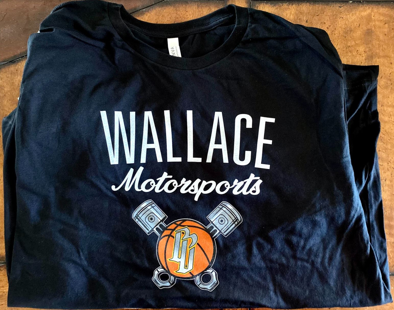 Wallace Motorsport T-Shirt with Logo -(Black)