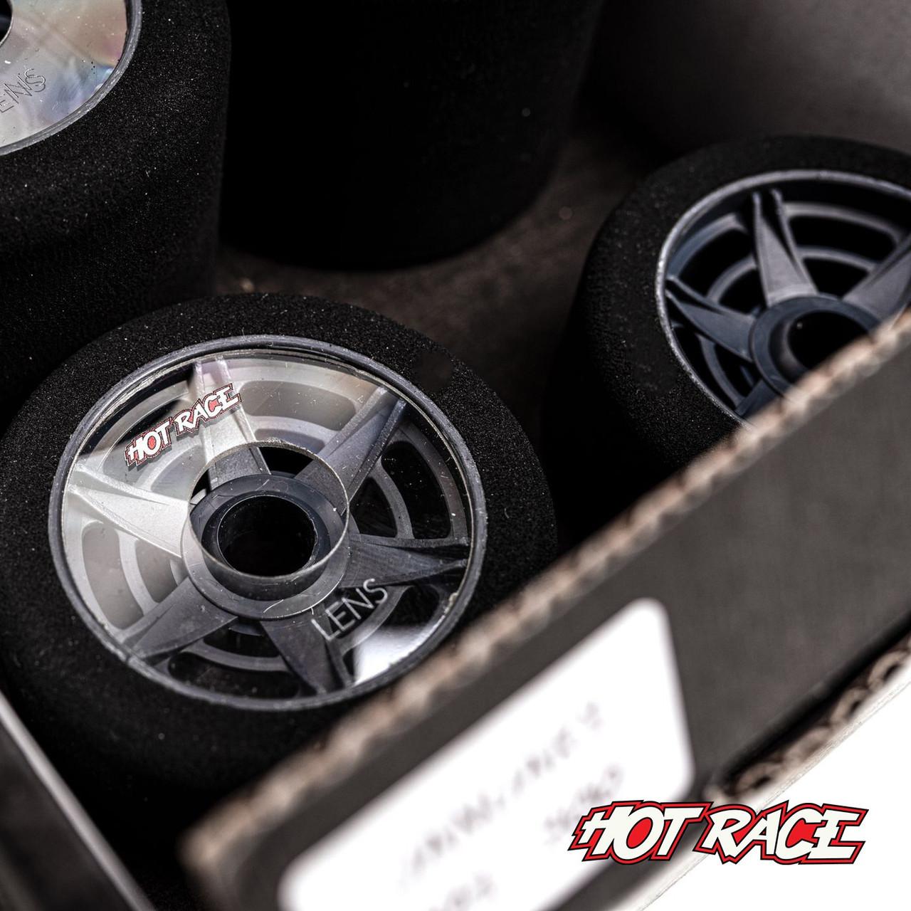 Hot Race 1:8 Lens Tire Set (Green/Green) (Soft/Soft)