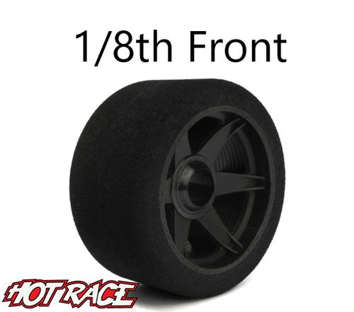 Hot Race 1:8 Front Tires - Carbon Wheels