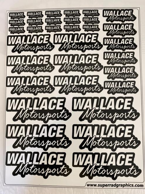 Wallace Motorsports Decal Sheet - Logo