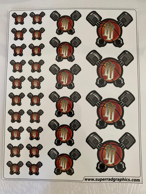 Wallace Motorsports Decal Sheet - Piston