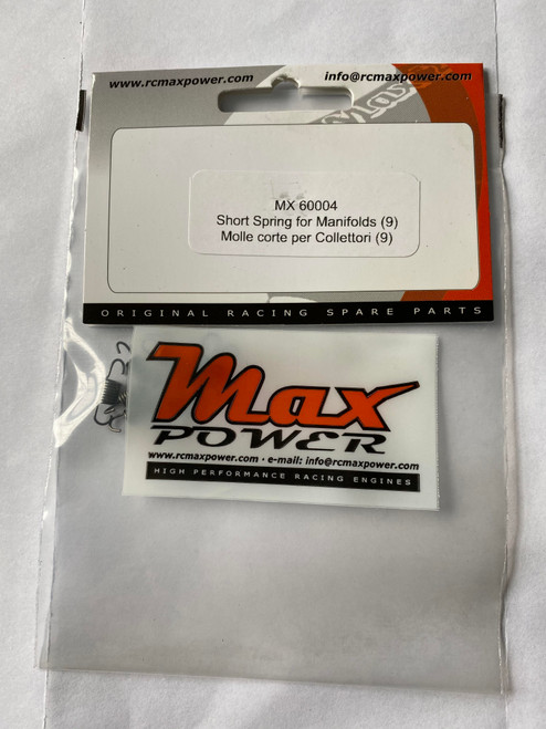 Max Power - Short Manifold/Pipe Springs (9 Pieces)