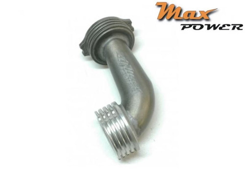 Max Power .12 Conical Manifold 90 ° + 90 ° (Long)- Total Black