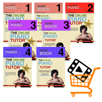 Learn To Play The Piano Books 1 - 4 | COMPLETE COLLECTION + VIDEOS (Download Only)