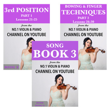 *COMBO DEAL* | Learn To Play The Violin Book 3 AND Song Book 3 | (Download Only)