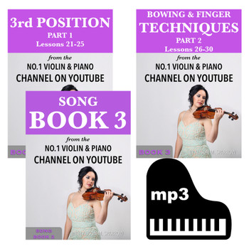 *TRIPLE DEAL* | Learn To Play The Violin Book 3, Song Book 3 & Piano Backings | (Download Only)