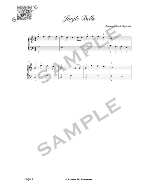 A Traditional Christmas & Holiday PIANO Book 1 | (Download Only)