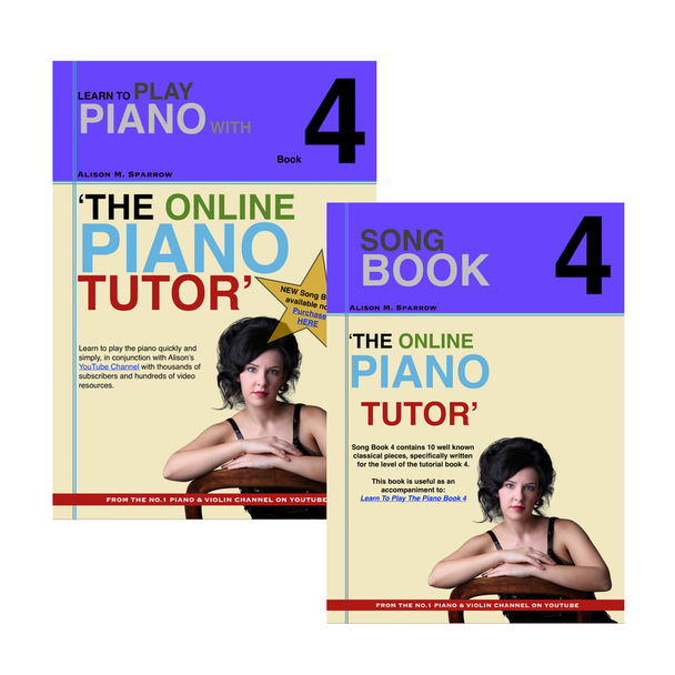 *COMBO DEAL* | Learn To Play The Piano Book 4 AND Song Book 4 | (Download Only)