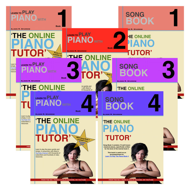 Learn To Play The Piano Books 1 - 4 | COMPLETE COLLECTION (Download Only)