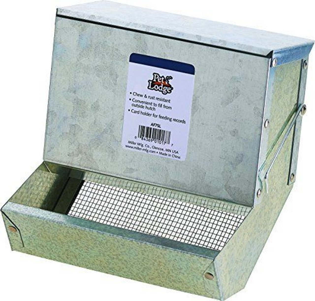 """Miller 7"""" Rabbit Sifter Feeder with Lid (12 Pack)"""