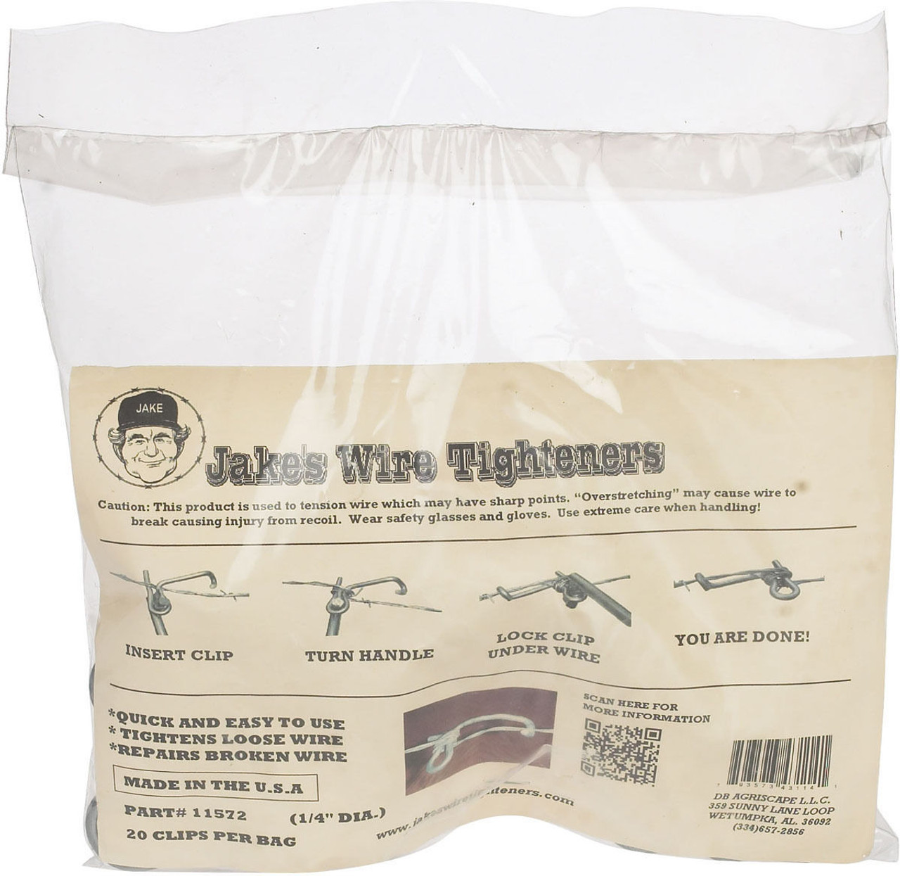 Jakes Wire Tightener Bag of 20 clips