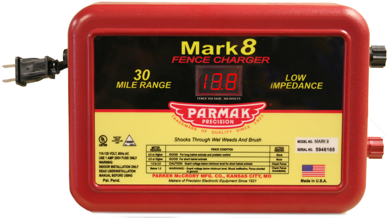 Parmak Mark 8 Multi-Power 110-120V Electric Fence Charger