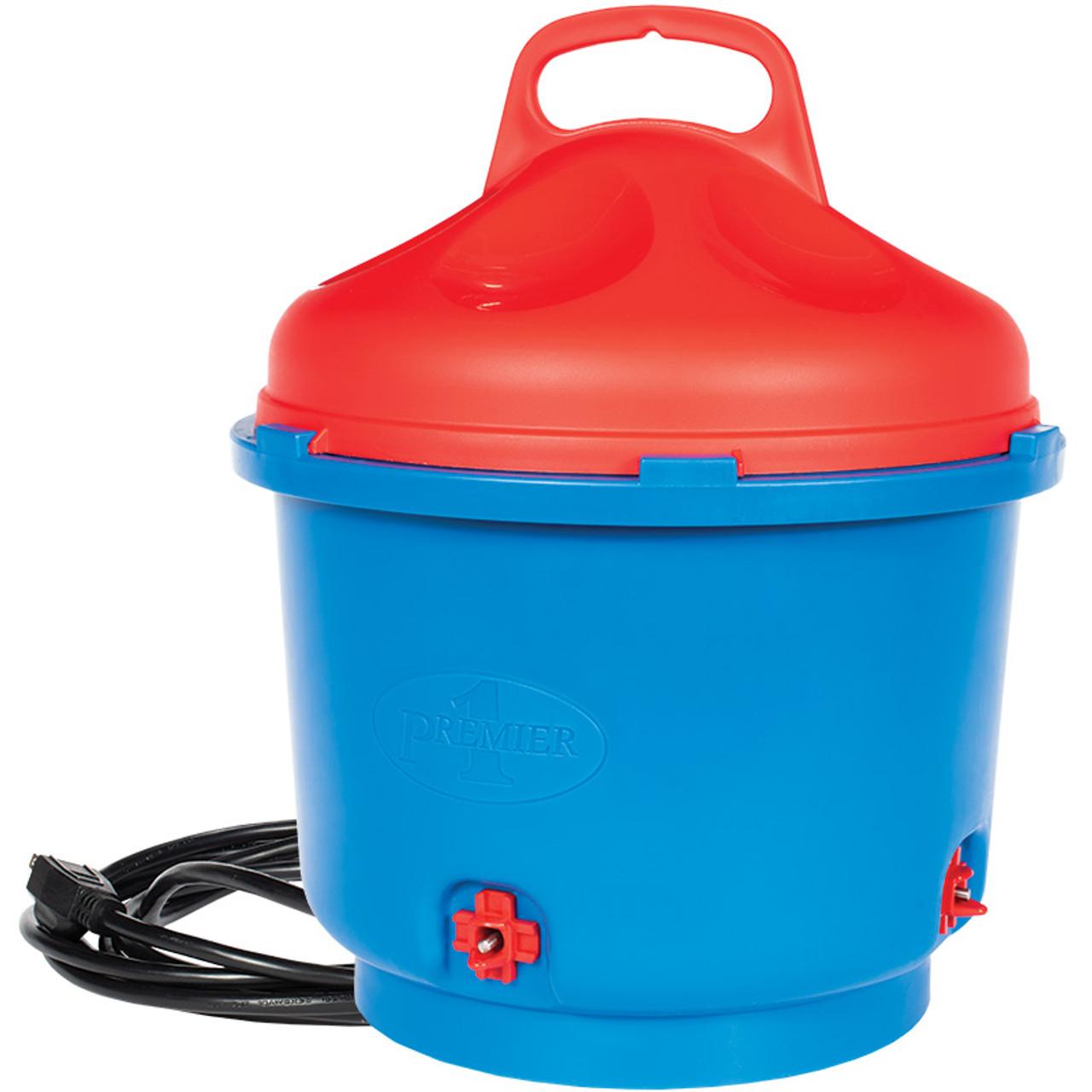 Heated Poultry Nipple Bucket Waterer 3 Gallon
