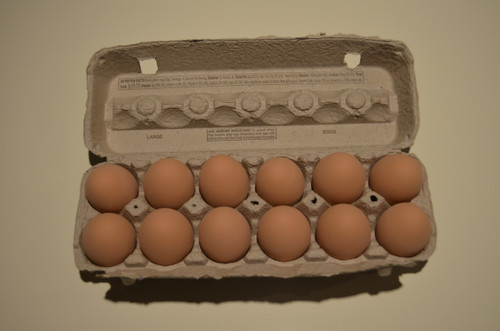 1 Dozen Brown Ceramic Nest Eggs in Grade A Large Carton