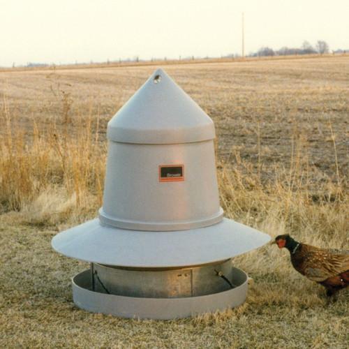 Brower-GBF-175-Range-Feeder-for-Gamebirds-Free-Range Pastured Poultry