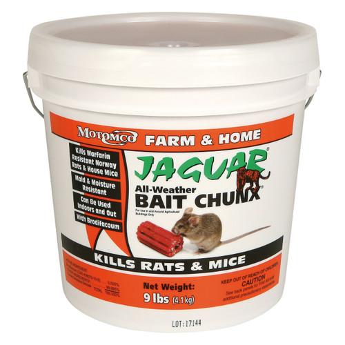 Motomco Jaguar® All-Weather Rat Bait Chunx® Bucket - 9 lbs