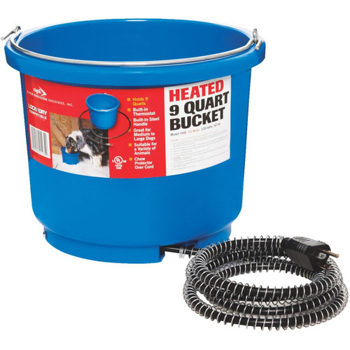 API Miller Plastic Heated 9 Quart Bucket Lock n dry Quit Breaking Ice!!