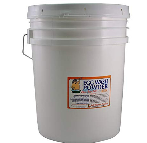 EGG WASH POWDER - 40 LB Bucket - Clean Eggs Sell Better!!!