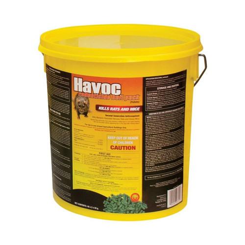 Neogen Havoc Mouse and Rat bait 40 Piece 2 Pack 50 Gram Place  Packs Rat Poison Pellets
